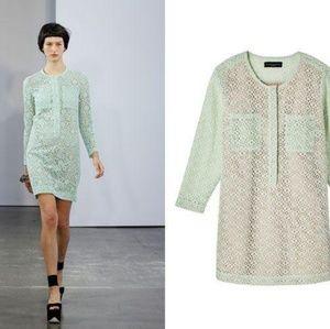 Green lace Victoria Beckham dress